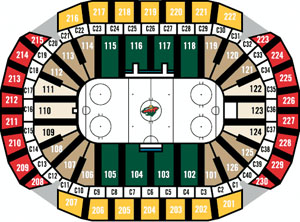 Hockey Seating Chart Xcel Center